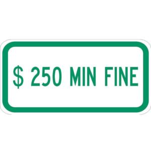 $250 Fine Minimum