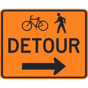 Bicycle-Pedestrian Detour (M4-9a)