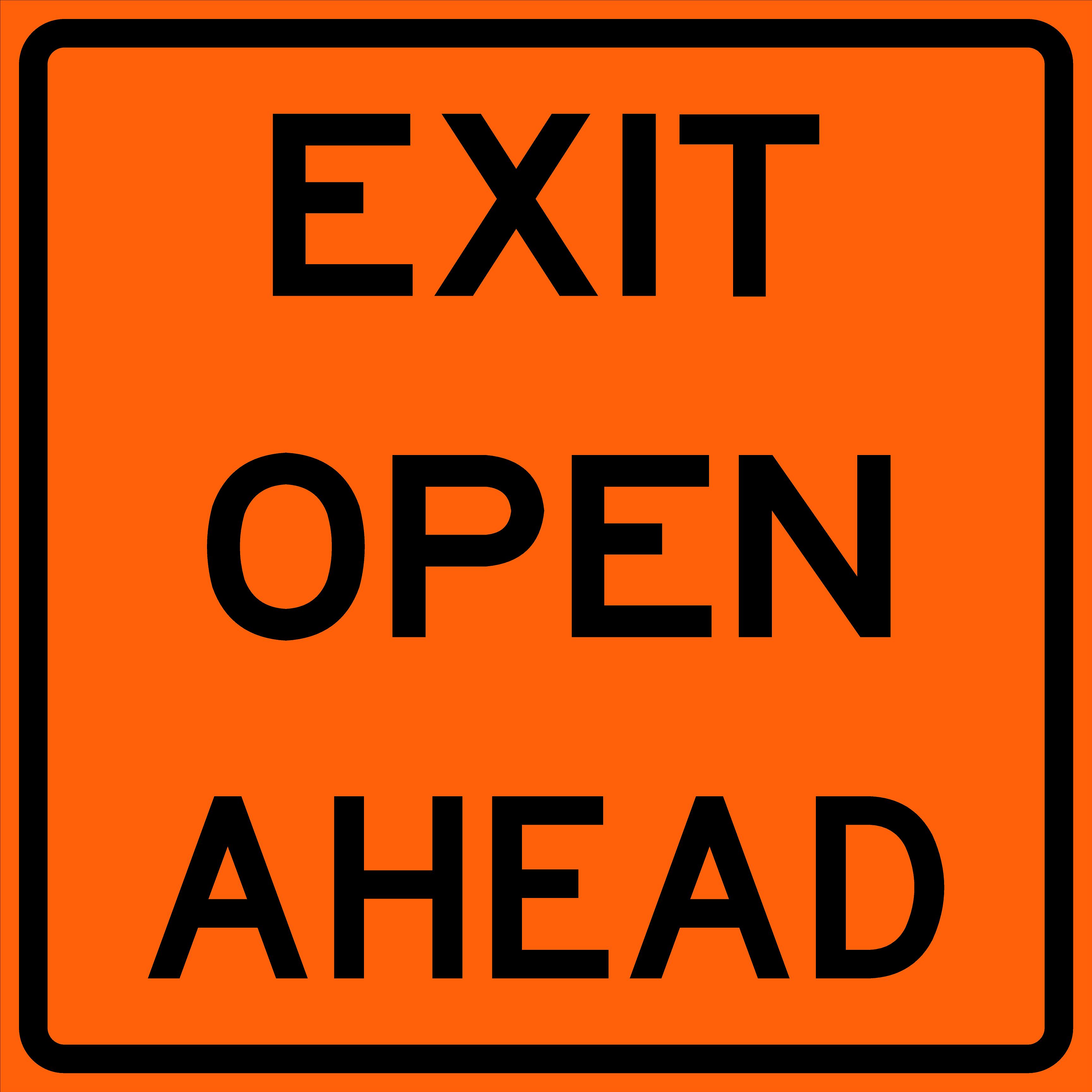Exit Open Ahead (E5-H2b)