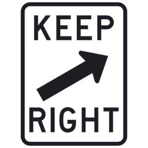 Keep Right (R4-7b)