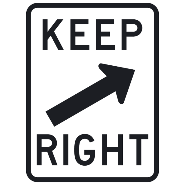 Keep Right (R4-7b)