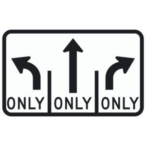 Lane Use Control, L-T-R (R3-8b)