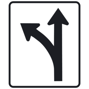 Lane Use Control, LT (R3-6L)