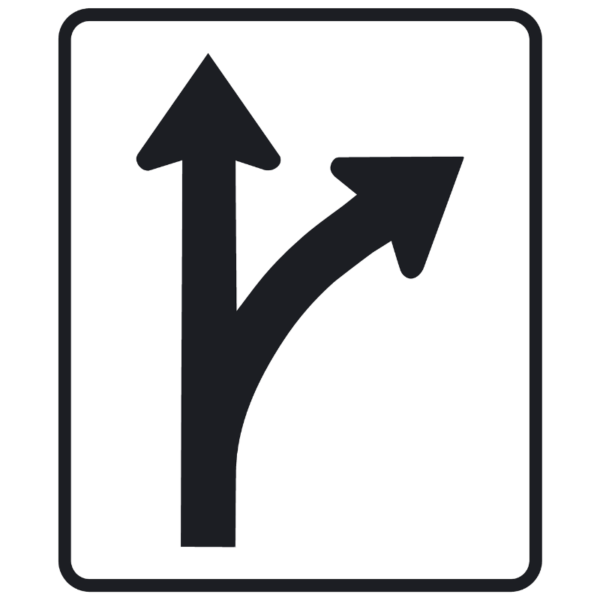 Lane Use Control, RT (R3-6R)