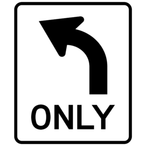 Left Turn Only (R3-5L)
