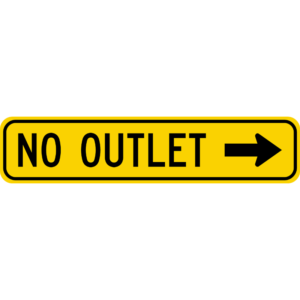 No Outlet (W14-2aR)