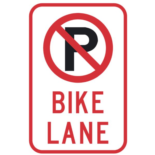 No Parking Bike Lane (R7-9a)