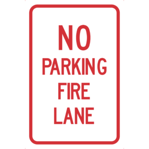No Parking Fire Lane (R7-H10)