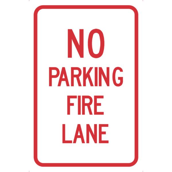 No Parking Fire Lane (R7-H10)