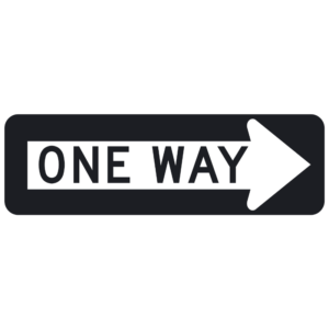 One Way (R6-1)