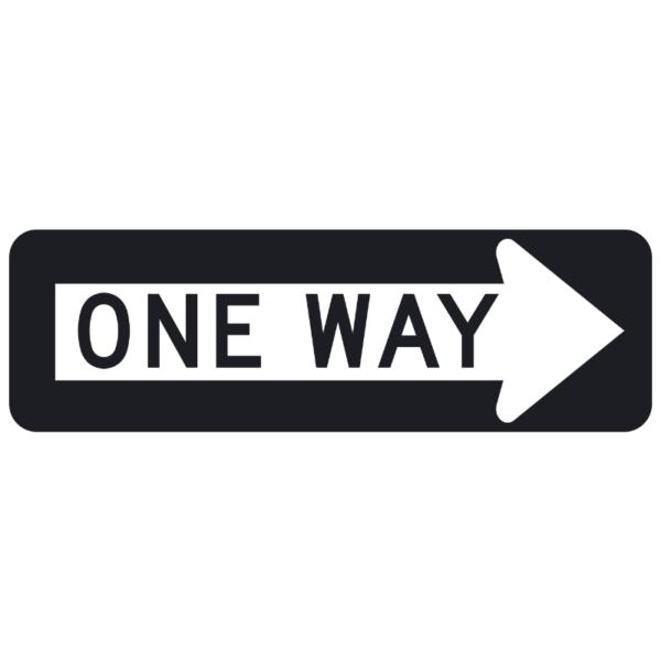 One Way (R6-1)