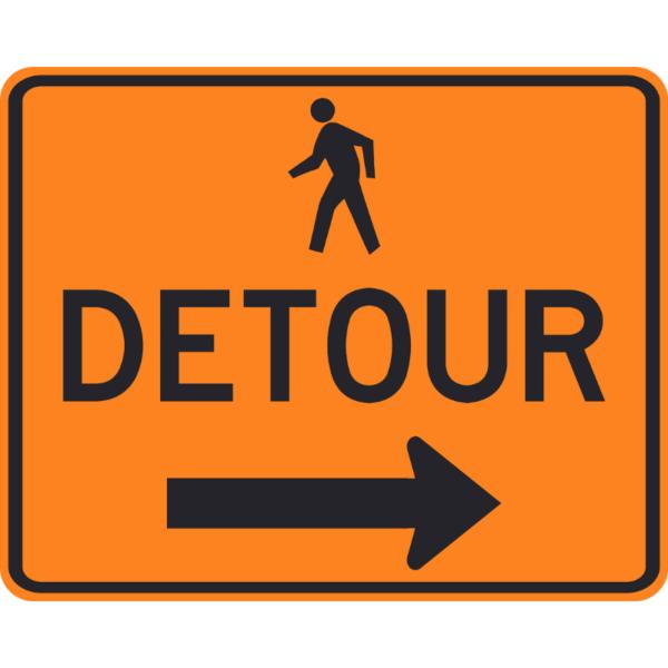 Pedestrian Detour (M4-9b)