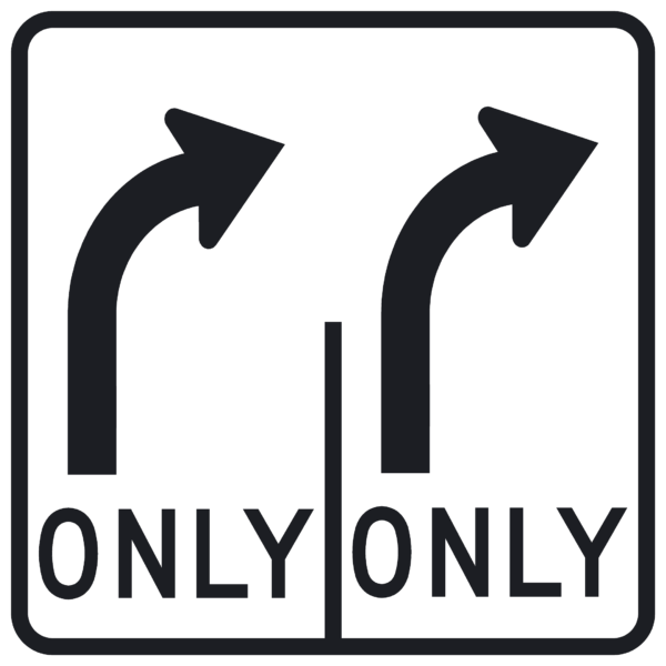 Lane Use Control, R-R (R3-H8bf)
