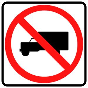 No Trucks Symbol (R5-2)
