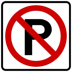 No Parking Symbol (R8-3)