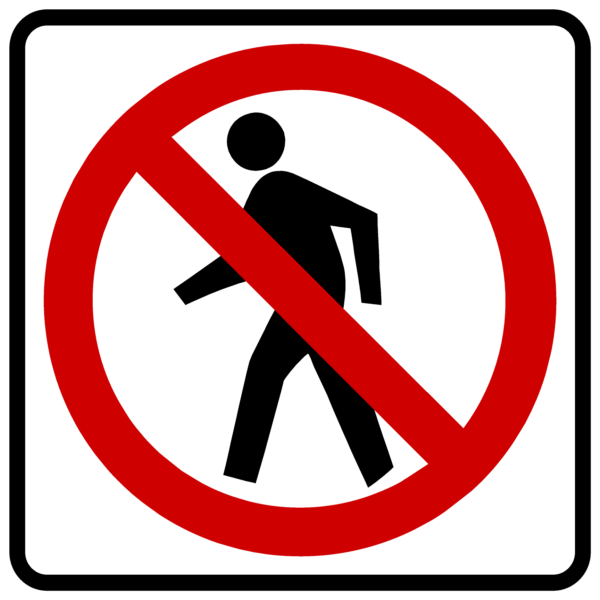 No Pedestrians Symbol (R9-3)