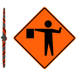 """36"""" Roll-UP Construction Sign"""