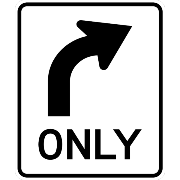 Right Turn Only (R3-5R)