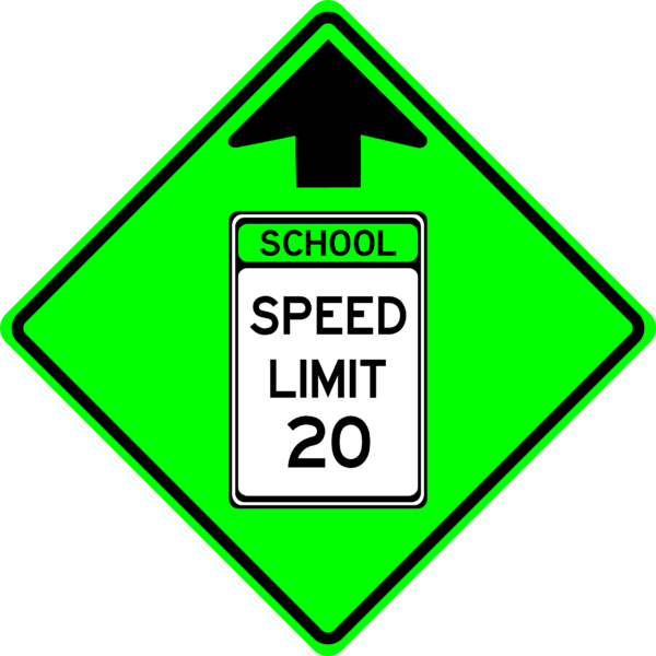 School Speed Limit Ahead (S4-5)
