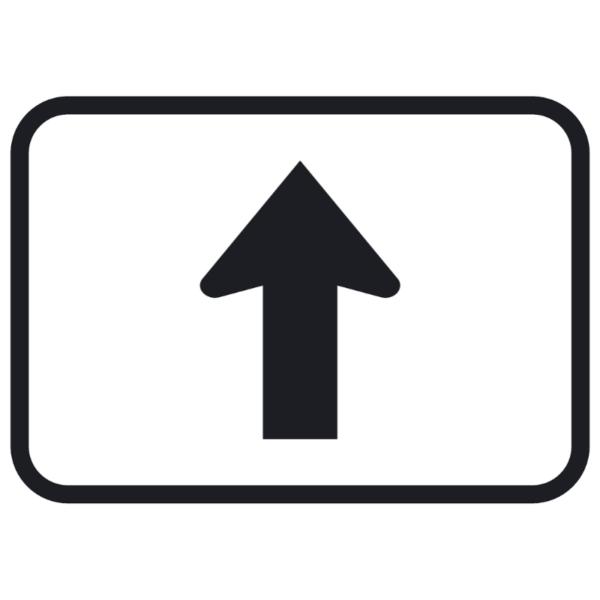 Straight Ahead Arrow (M6-3)