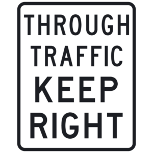 Through Traffic Keep Right (R4-H11)
