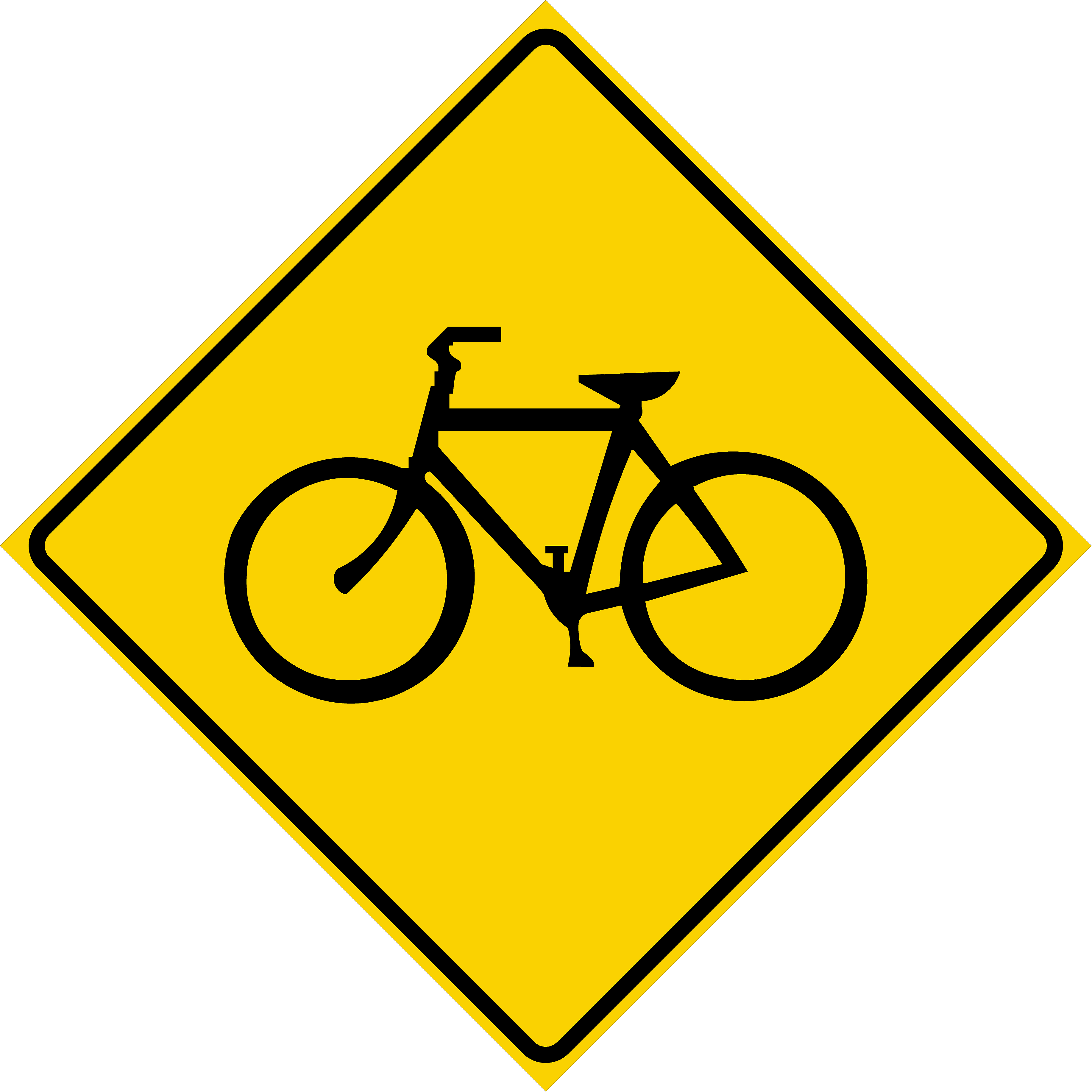 Bicycle Crossing Symbol (W11-1)