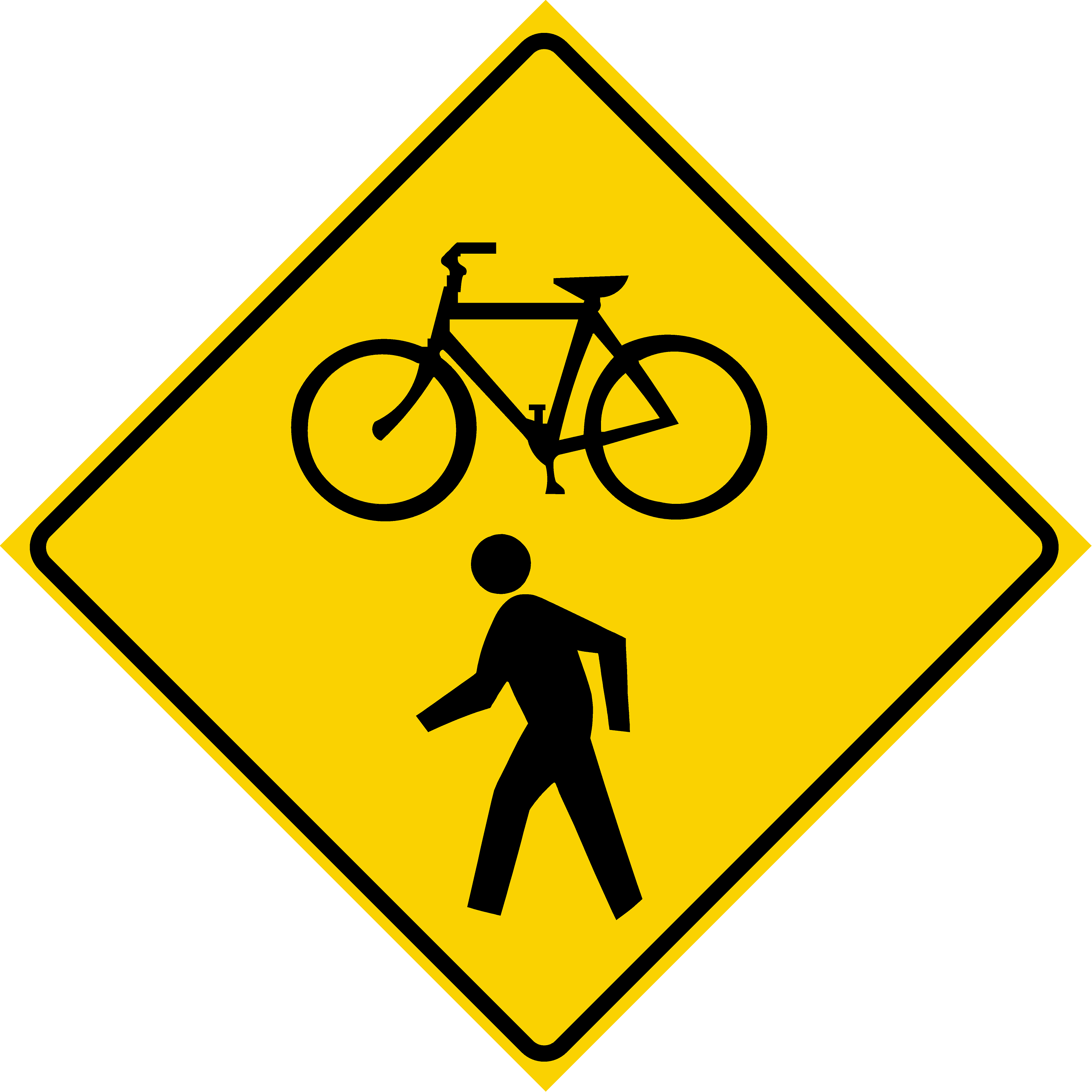 Bicycle and Pedestrian Crossing Symbol (W11-15)
