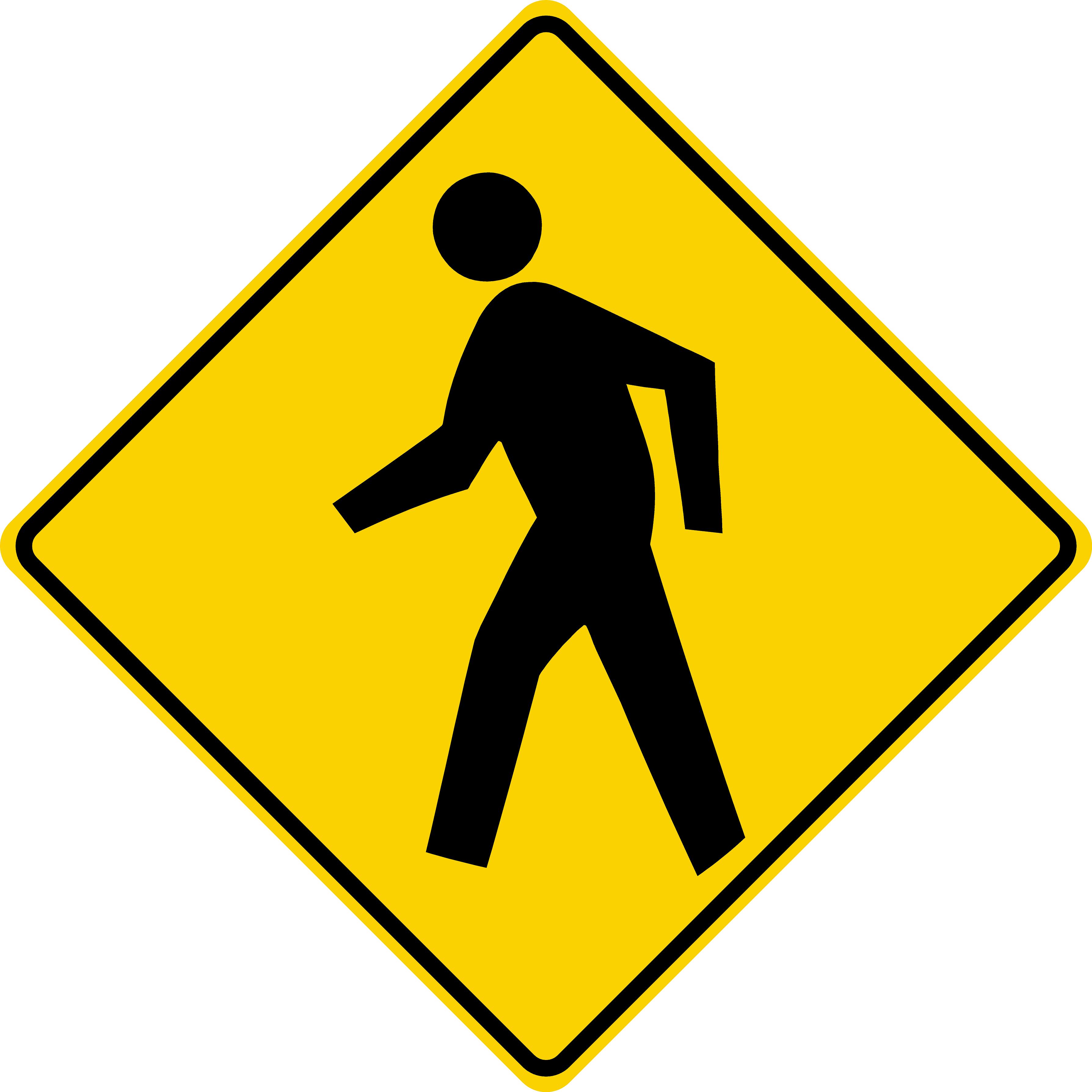 Pedestrian Crossing Symbol (W11-2)