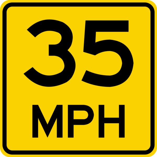 Speed Advisory Plate (W13-1P)