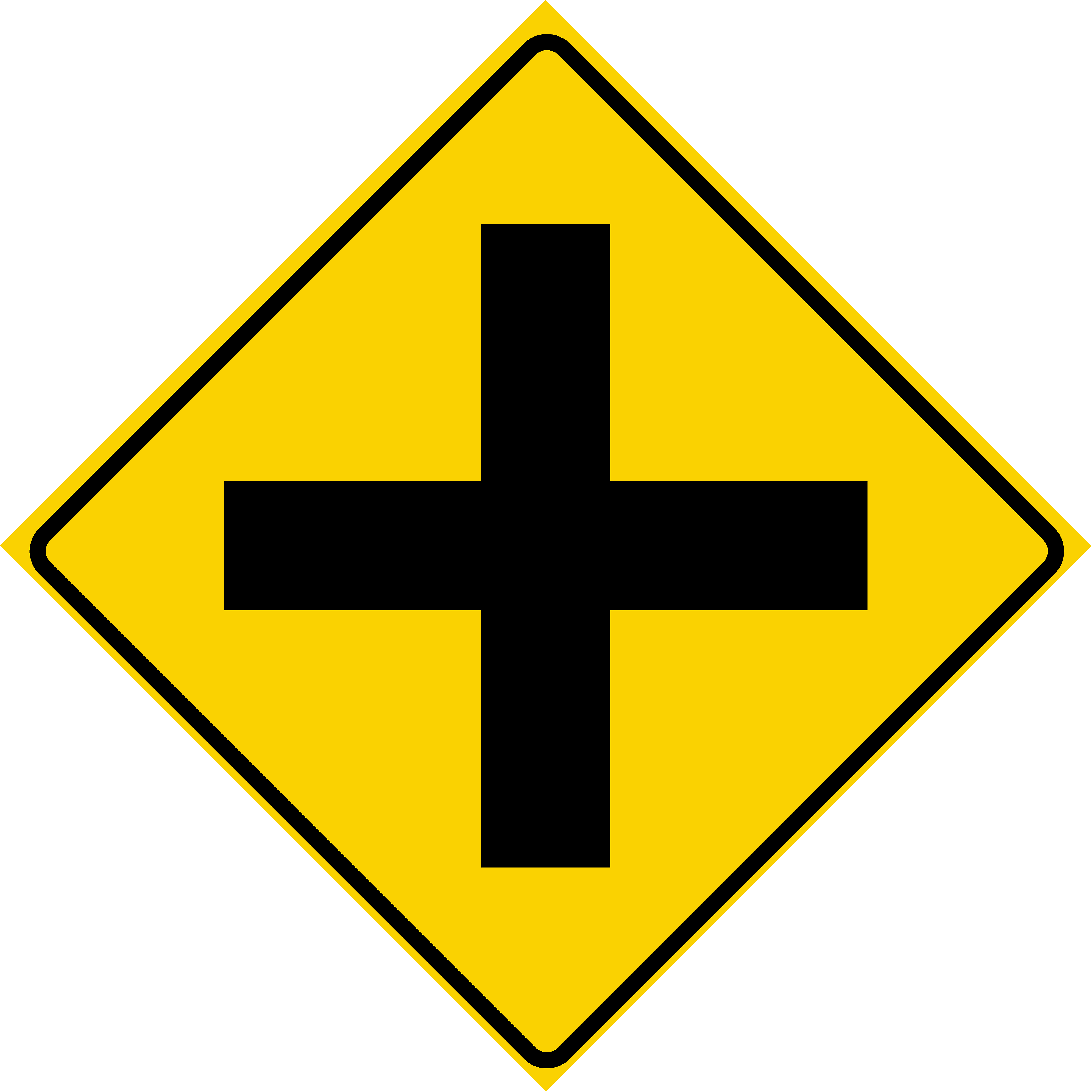 Cross Road (W2-1)