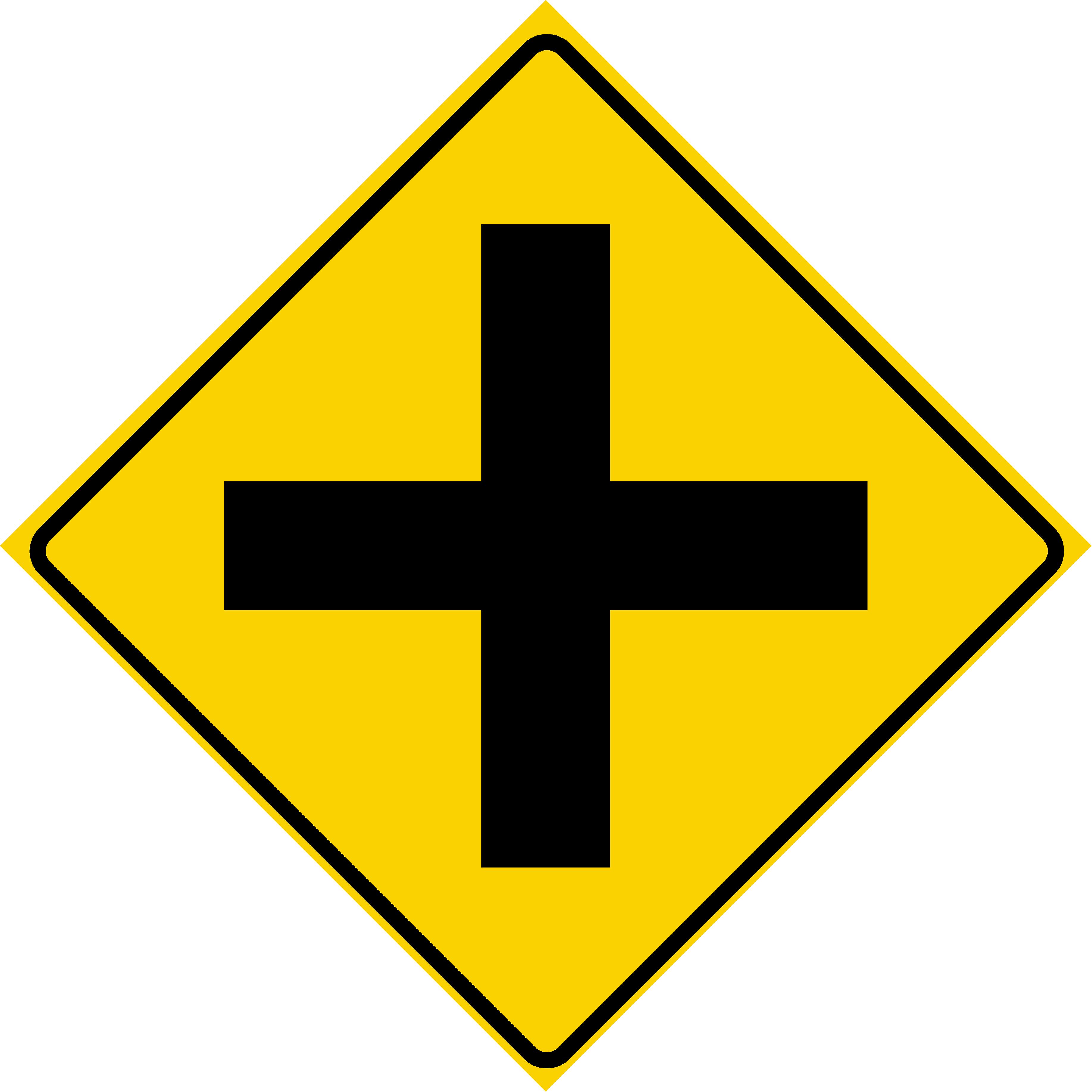 Cross Road (W2-1)