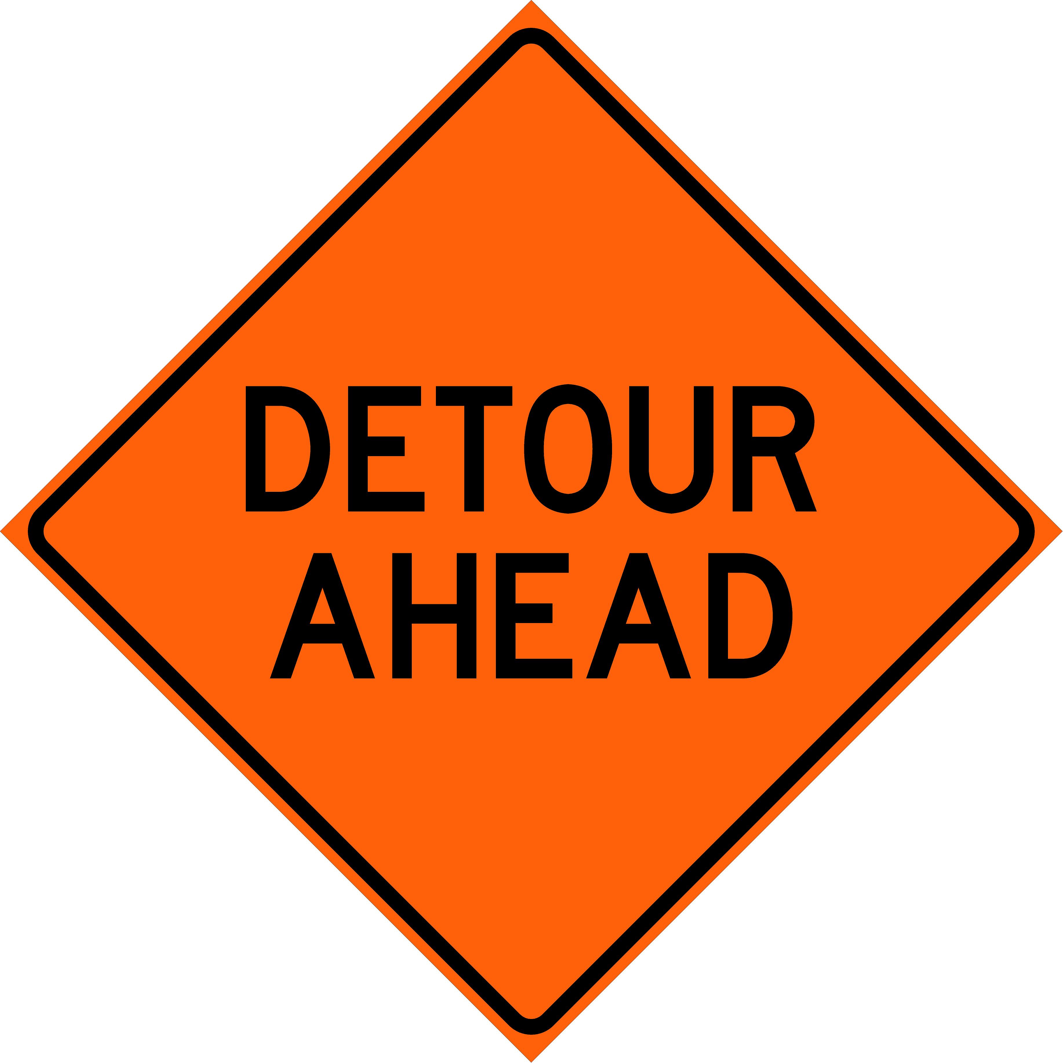 Detour Ahead (W20-2)