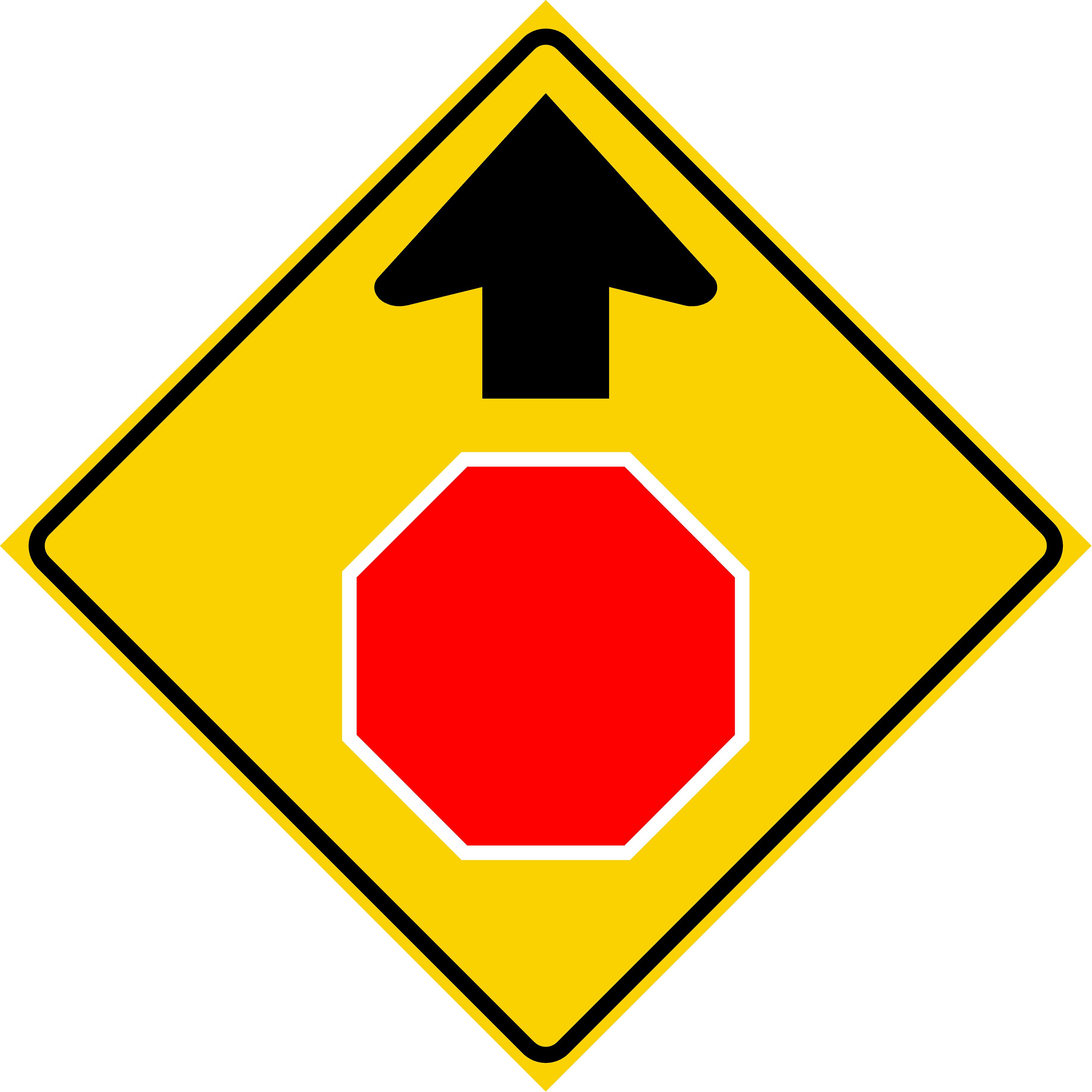 Stop Ahead (W3-1)