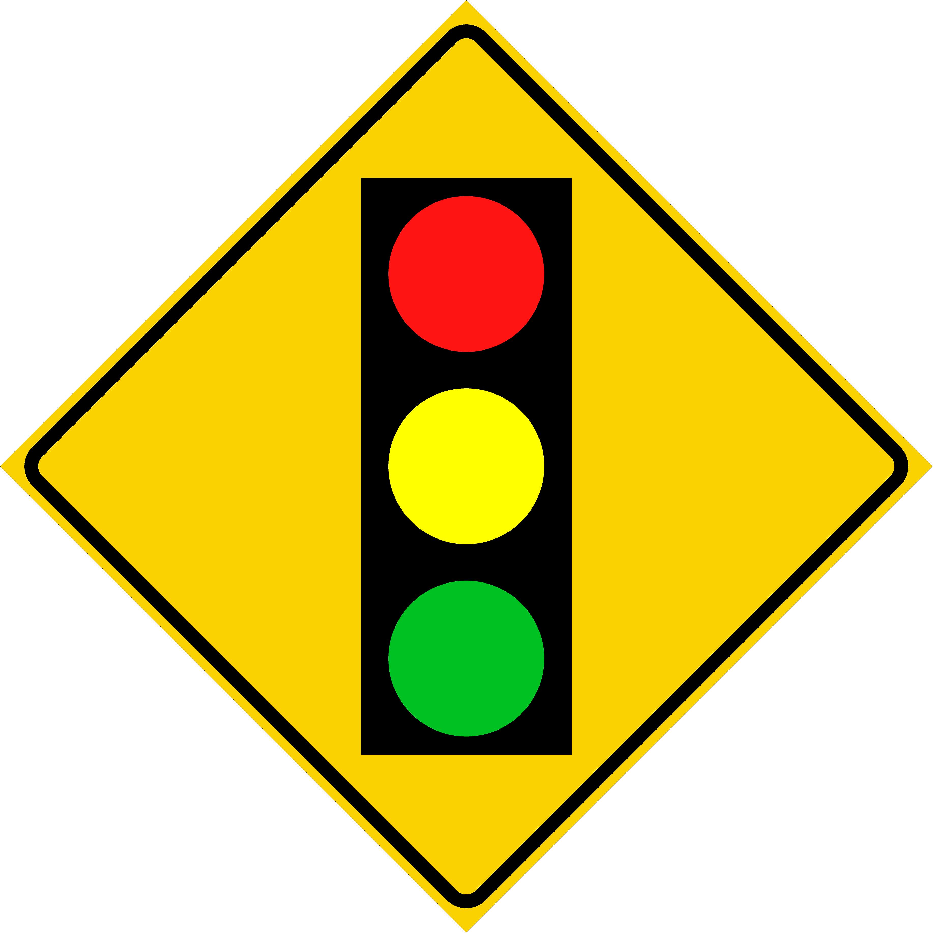 Signal Ahead Symbol (W3-3)