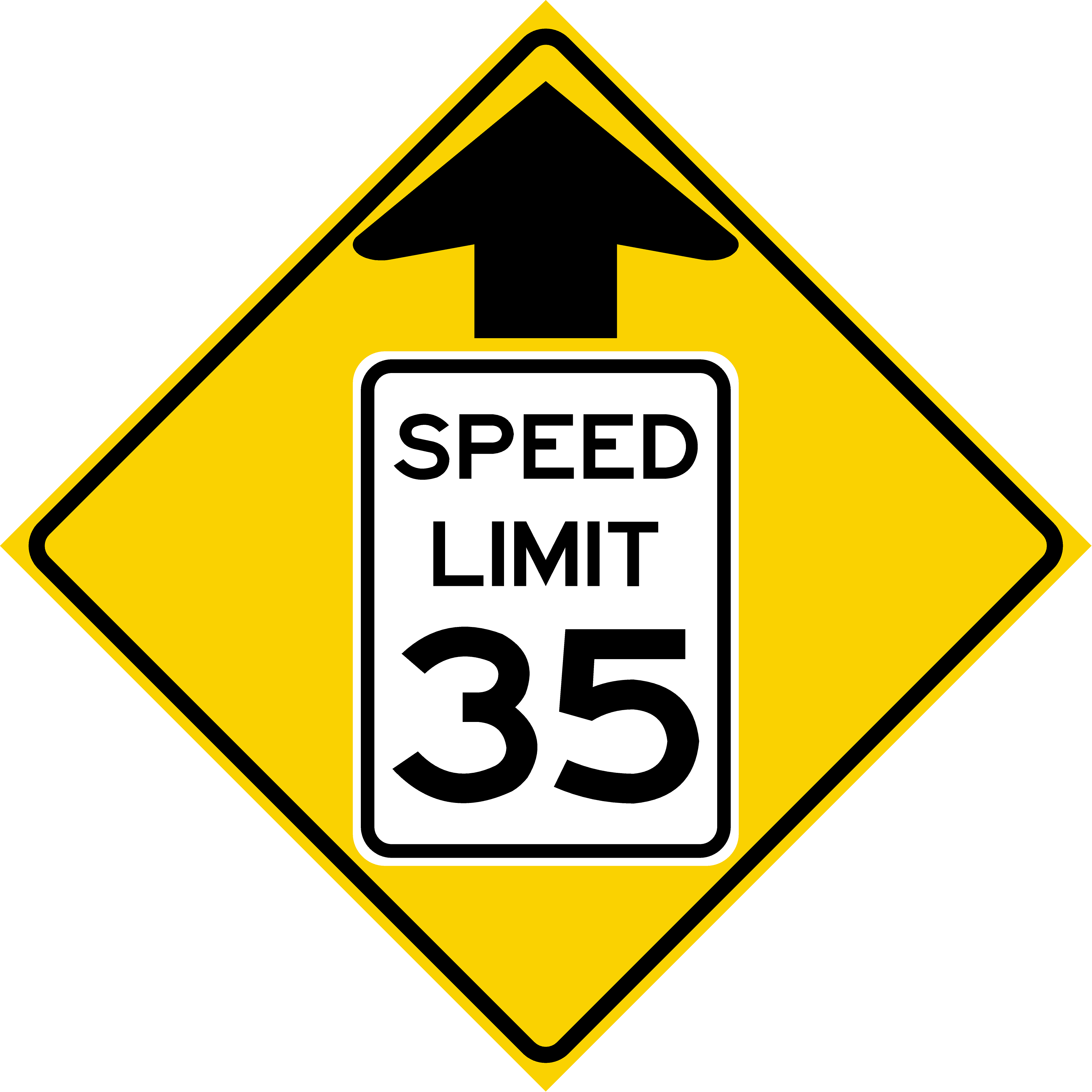 Speed Zone Ahead (W3-5)