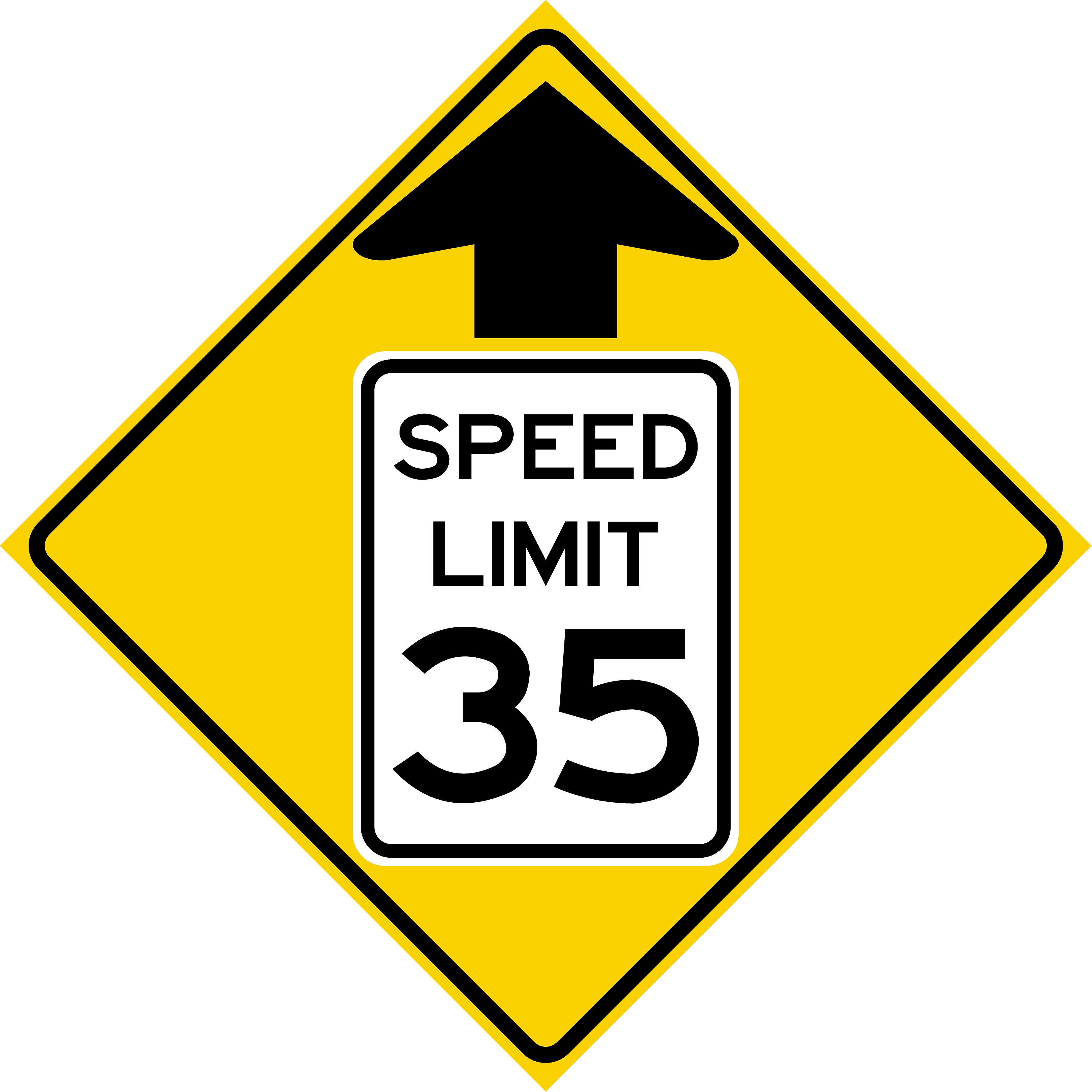 Speed Zone Ahead (W3-5)