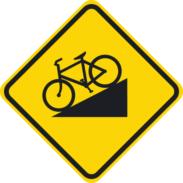 Bicycle Hill Symbol (W7-5)