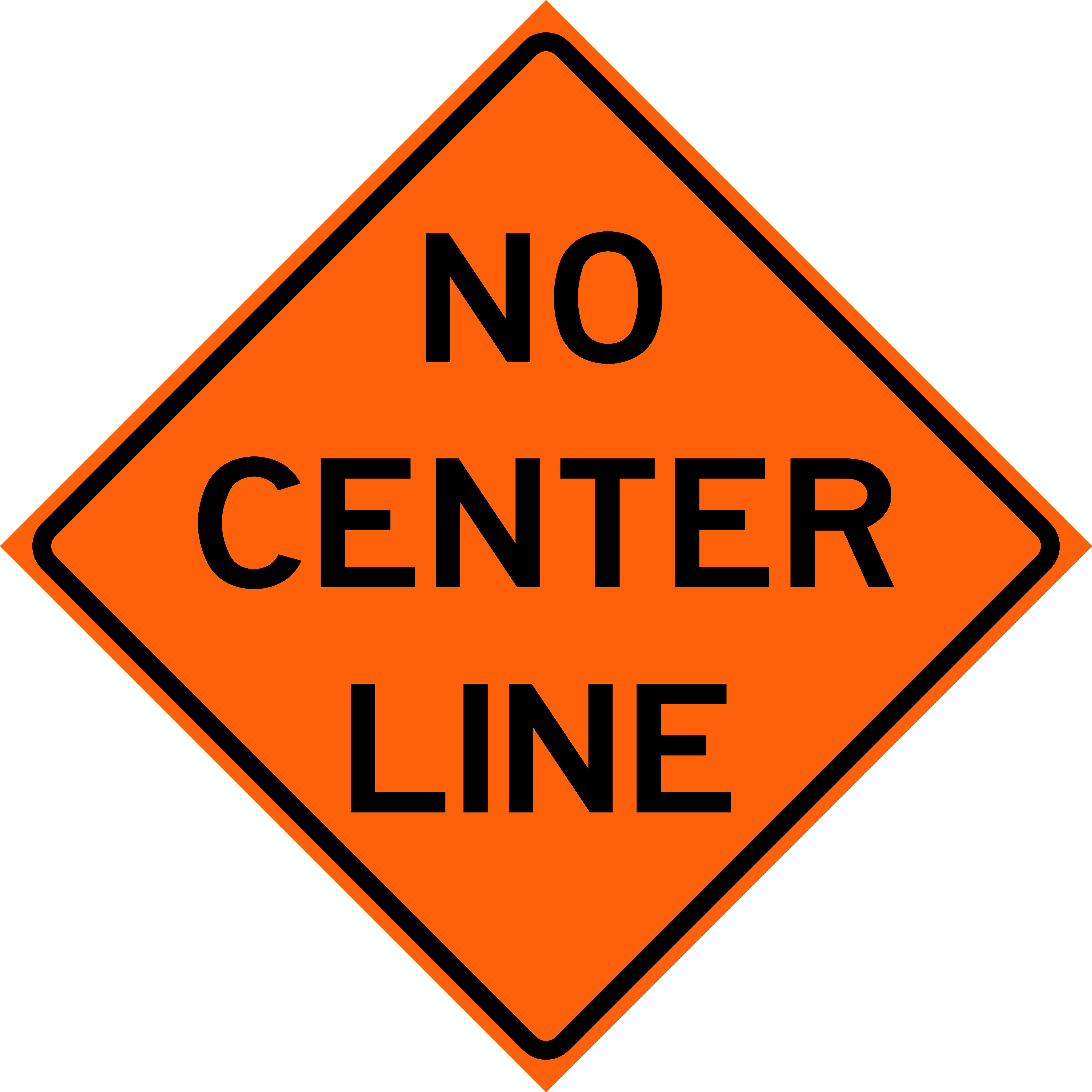 No Center Line (W8-12)