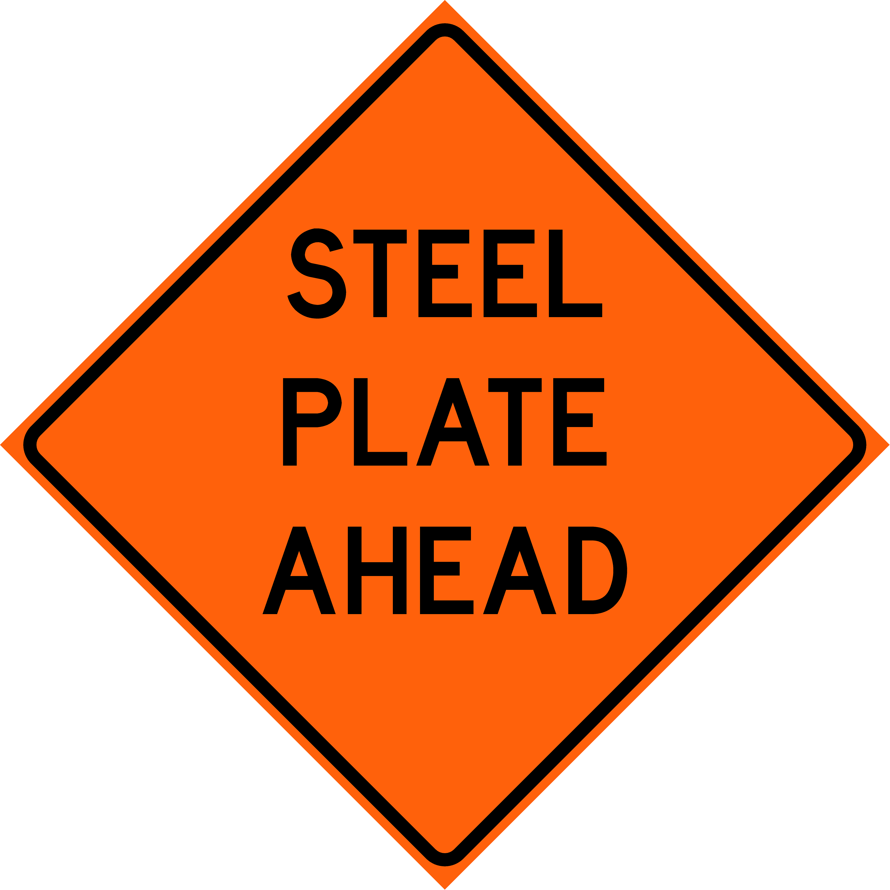 Steel Plate Ahead (W8-24)