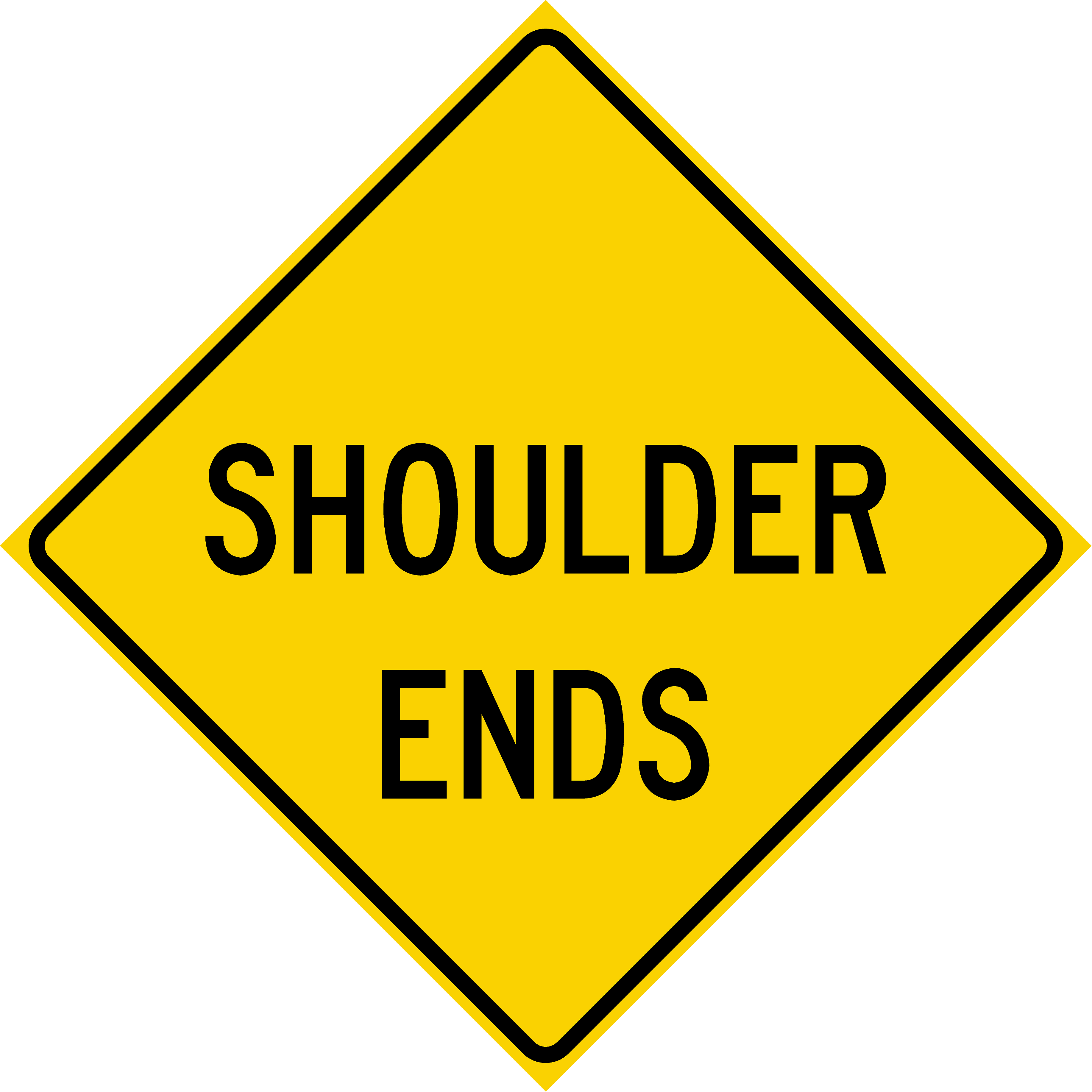 Shoulder Ends (W8-25)