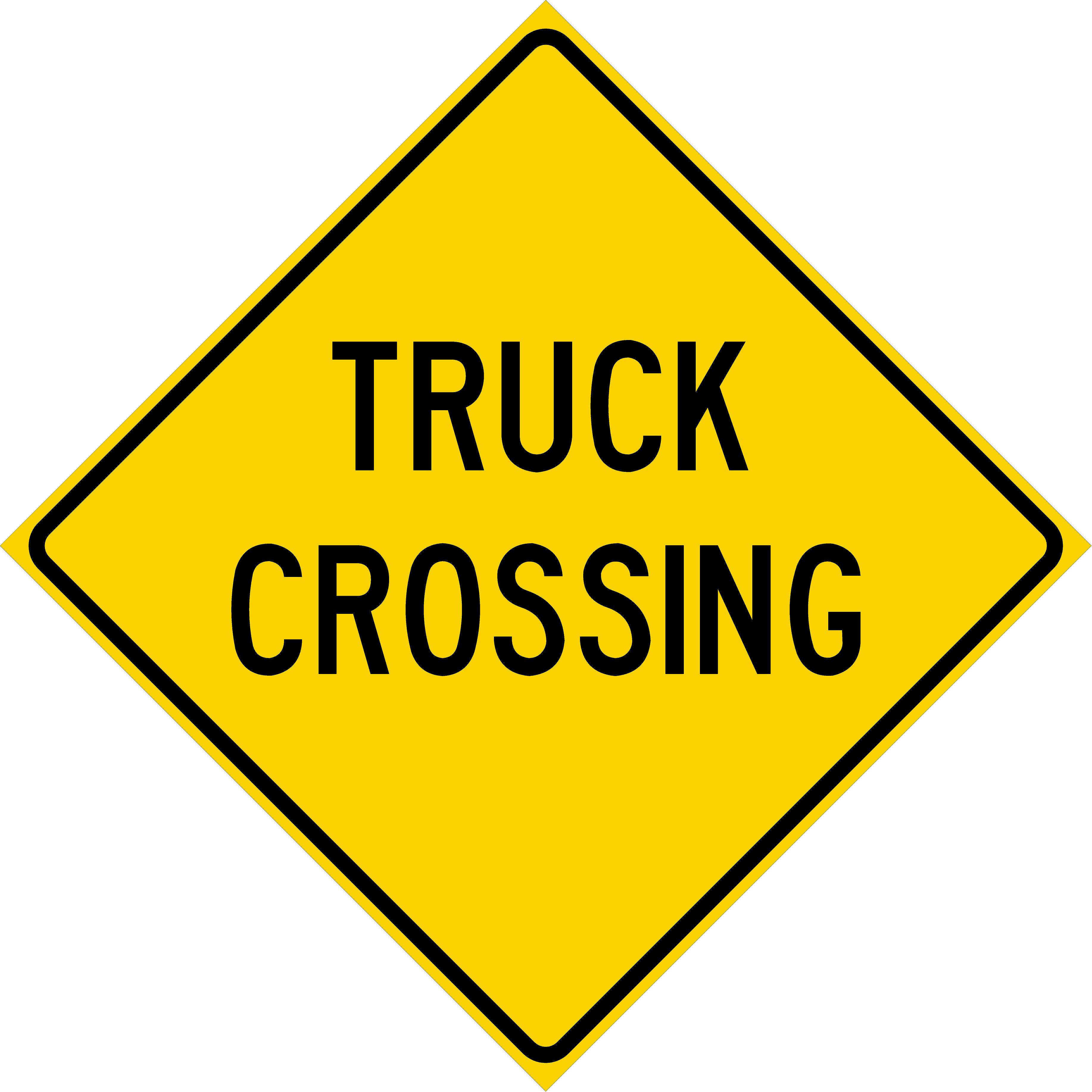 Truck Crossing (W8-6)