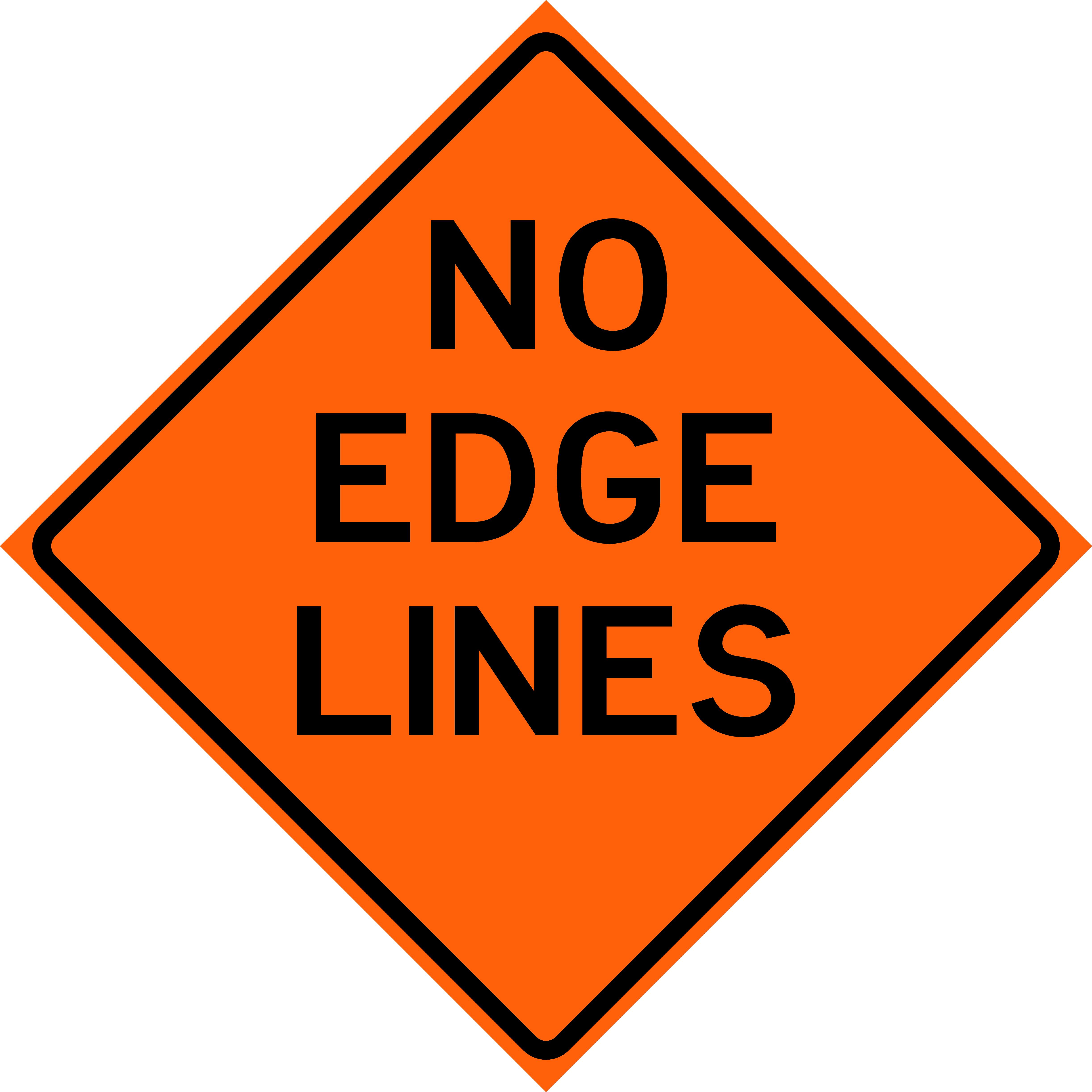 No Edge Lines (W8-H12)