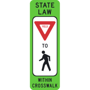 Yield to Pedestrians (R1-6)