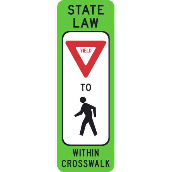 Yield to Pedestrians (R1-6)