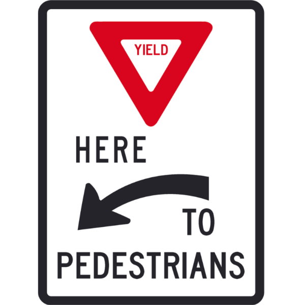 Yield Here to Pedestrians (R1-5a)